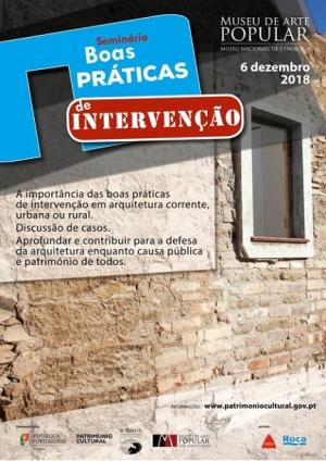 """Seminário """"Boas práticas de intervenção em arquitetura corrente"""""""
