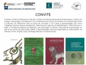 Apresentação de livros do CAM no MNA - Lisboa