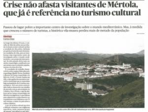 """""""Crise não afasta visitantes de Mértola, que já é referência no turismo cultural"""