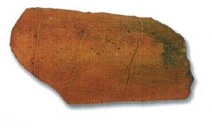 Roof tile with markings