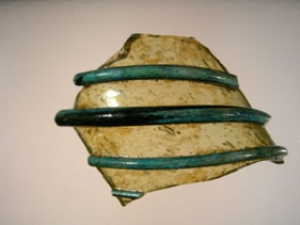 Pottery neck fragment with applied decoration