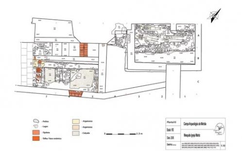 Planta geral da escavação - Igreja Matriz