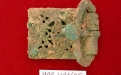 Fivela de bronze (século XII) antes da intervenção de conservação