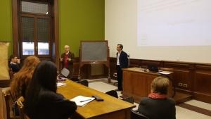 Seminário apresentado por Virgílio Lopes no Instituto Pontifício de Arqueologia Cristã em Roma