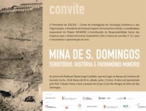 Lançamento do Livro sobre a Mina de S. Domingos
