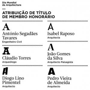 Atribuição de Título de Membro Honorário, pela Ordem dos Arquitectos, a Cláudio Torres