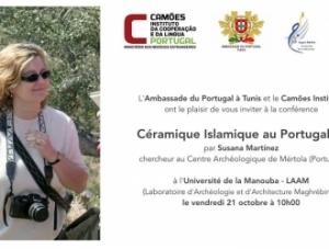 "Conferência ""Céramique Islamique au Portugal"", Universidade de Manouba, Tunísia."