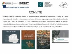 Apresentações de Livros do CAM no MNA em Lisboa