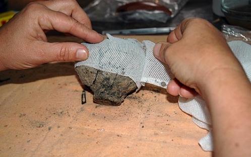 Inicio do processo de conservação e restauro
