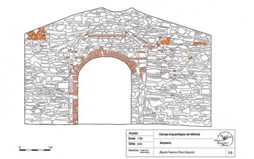 Alçado - Escavação Mosteiro