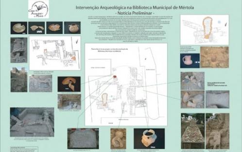 Cartaz - Intervenção Arqueológica na Biblioteca Municipal de Mértola