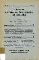 Annales d'histoire économique et sociale.