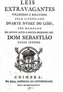 Leis extravagantes / collegidas e relatadas pelo licenciado Duarte Nunez do Liã