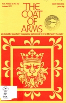 The coat of arms : an heraldic quarterly magazine published by The Heraldry Soci